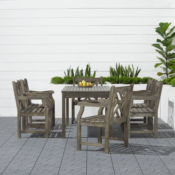 Renaissance 7-piece Table/ Armchair Outdoor Dining Set. Opens flyout.
