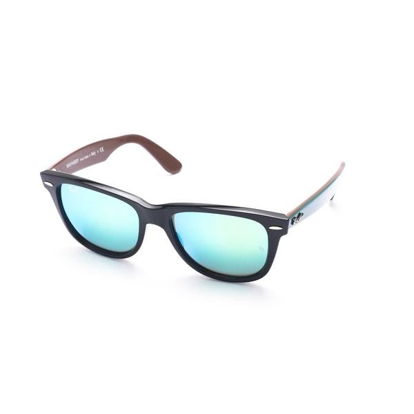 Ray-Ban Original Wayfarer Bicolor Sunglasses Black/Teal/Brown - Small