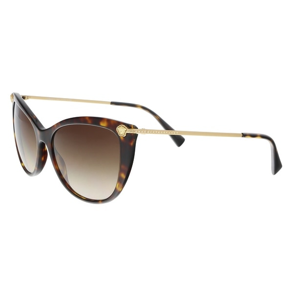 d07e3b37393 Versace VE4345B 108 13 Havana Cat Eye Sunglasses - 57-17-140. Click to Zoom