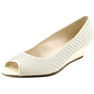 Alfani Cammi Open Toe Leather Wedge Heel