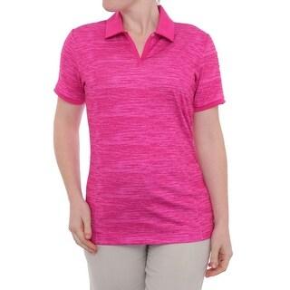 Adidas Puremotion Textured Pleat Short Sleeve Polo Women Regular Polo