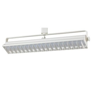 Cal Lighting HT-633M Single Light 40 Watt LED Track Head with Clear Glass Rectan