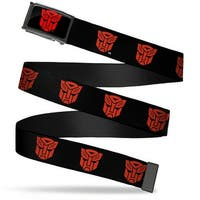 Transformers Autobot Logo Fcg Black Red  Chrome Autobot Logo Repeat Web Belt