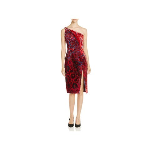 f12eb64e7b9 Elie Tahari Womens Carter Cocktail Dress One Shoulder Knee-Length