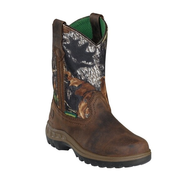 0defec86858b0 Shop John Deere Boys Girls Camo Top Leather Toddler Boots 8.5-10.5 - Free  Shipping Today - Overstock - 23088616