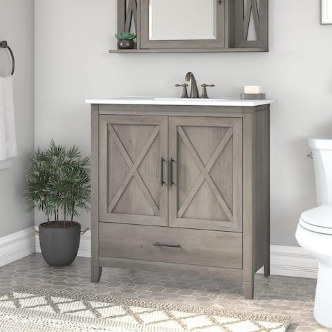 Key West 32W Bathroom Vanity with Sink by Bush Furniture