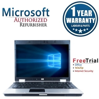 Refurbished HP EliteBook 8530P 15.4'' Laptop Intel Core 2 Duo P8400 2.26G 4G DDR2 160G DVD Win 10 Pro 1 Year Warranty - Silver