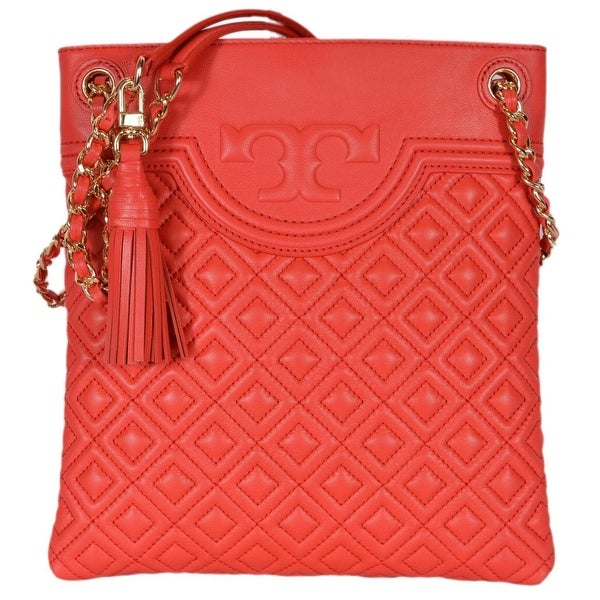 6f8bf06f781 Tory Burch Fleming Red Volcano Swingpack Leather Crossbody Shoulder Bag -  9.5