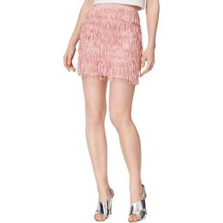 Mare Mare Womens Bran Mini Skirt Layered Fringe