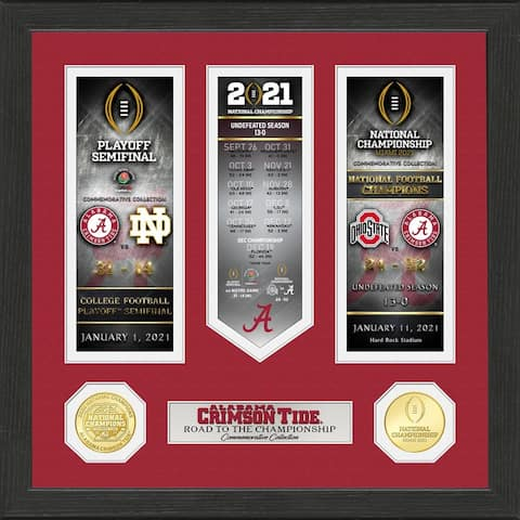 Alabama Crimson Tide 2020/21 Football National Champions Road to The Championship Photo Mint - 13x13