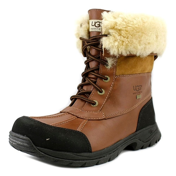 Ugg Australia Butte Men Round Toe Leather Brown Snow Boot