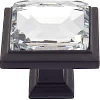 "Atlas Homewares 340 Legacy Crystal 1-5/16"" Square Cabinet Knob"