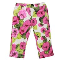 Richie House Girls' Bright Floral Pants