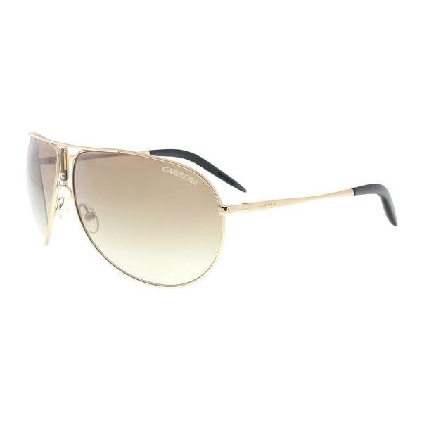 7e52d00deb89 Shop Carrera GIPSY/S 0MWM YY Gold Semi Shiny Aviator Sunglasses - 64 ...