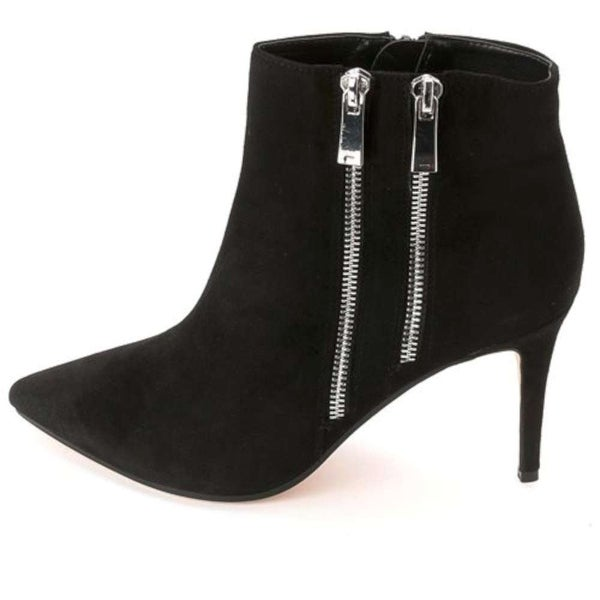 Dune London Women's Suede Pointy Ankle Boots, Black, Size 9.0
