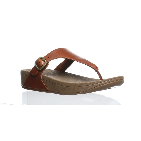 e53e8050a10d53 Shop FitFlop Womens The Skinny Dark Tan Flip Flops Size 8 - Free ...
