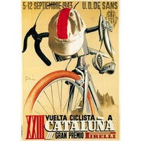 Cataluna - Bicycle Racing - Vintage Advertisement (Art Print - Multiple Sizes)
