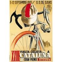 Cataluna - Bicycle Racing - Vintage Advertisement (Chef's Cotton/Poly Apron)