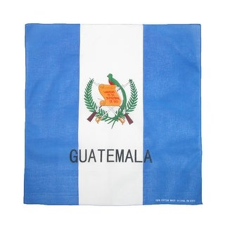 CTM® Cotton Guatemala Flag Bandana - guatemala flag - One Size