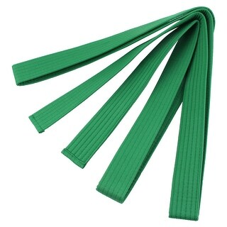 Martial Arts Karate Taekwondo Cotton Blend Sporty Band Belt Green 2.7M Length