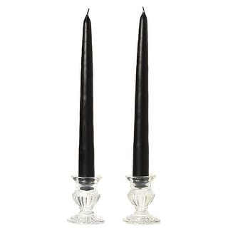 3 Pairs Taper Candles Unscented 10 Inch Black Tapers .88 in. diameter x 10 in. tall