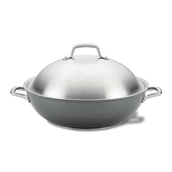 Anolon 81116 Accolade 13.5-Inch Wok with Lid. Opens flyout.