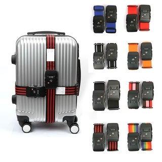 TSA 3-dial Password Lock Luggage Strap Adjustable Suitcase Belt 2Pcs