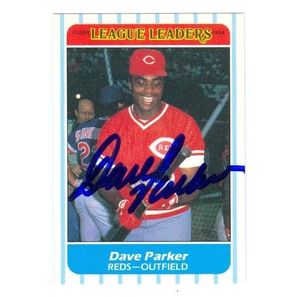 Dave Parker Autographed Baseball Card Cincinnati Reds 1988 Fleer