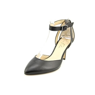 Marc Fisher Hien Women Pointed Toe Leather Black Heels