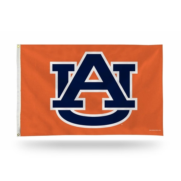 3' x 5' Orange and Blue College Auburn Tigers Rectangular Banner Flag - N/A