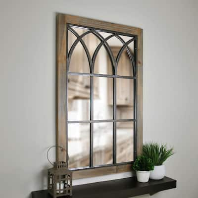 FirsTime & Co. Grandview Arched Farmhouse Window Mirror, Wood, 24 x 2 x 37.5 in, American Designed