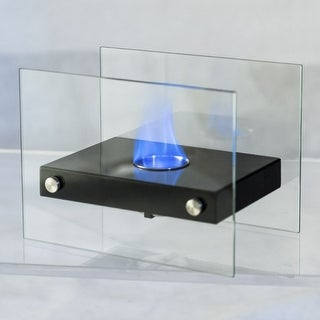 Costway Tabletop Fireplace Portable Ventless Firepit Bio Ethanol Black