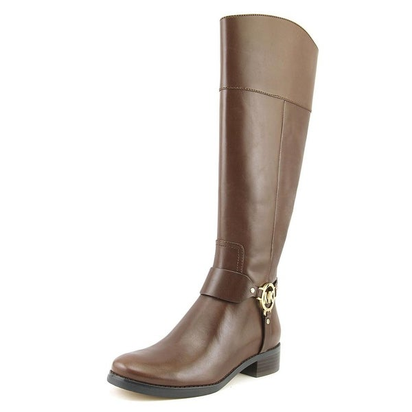 Michael Michael Kors Fulton Harness Women Round Toe Leather Brown Knee High Boot