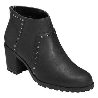 A2 by Aerosoles Women's Inclusive Ankle Boot Black Faux Leather