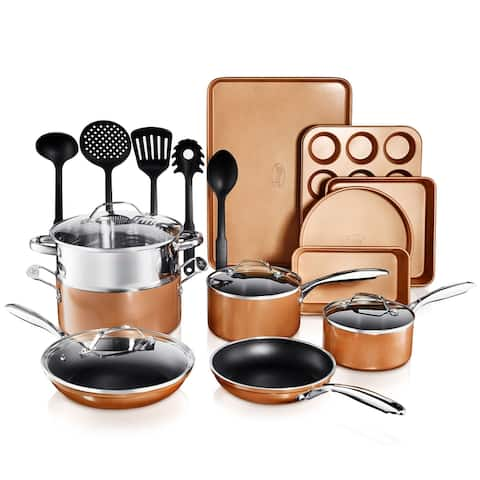 Gotham Steel Non Stick Copper Cast Textured 20pc Set