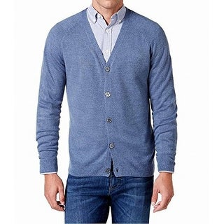 Weatherproof NEW Blue Marl Mens Size Medium M Soft Cardigan Sweater