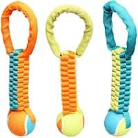 Chomper WB15525 Nylon Tennis Tug Dog Toy, Assorted Colors