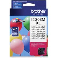 """Brother LC203M Brother Innobella LC203M Ink Cartridge - Magenta - Inkjet - High Yield - 550 Page - 1 Each"""