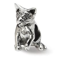 Sterling Silver Reflections Abyssinian Cat Bead (4mm Diameter Hole)