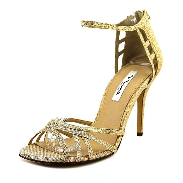 Nina Callie Women Open Toe Synthetic Gold Sandals