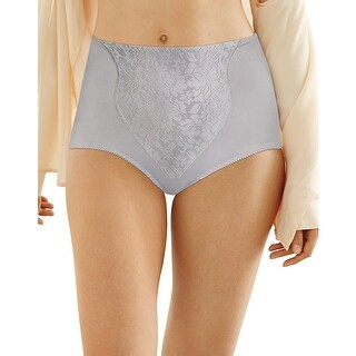 Bali Light Control Lace Panel Brief 2-Pack - Size - M - Color - Crystal Grey