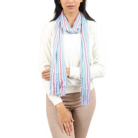 Missoni Blue/Red Wave Scarf - 15.2-68