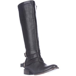 Freebird by Steven Madden Irish Riding Strapped Boots, Black