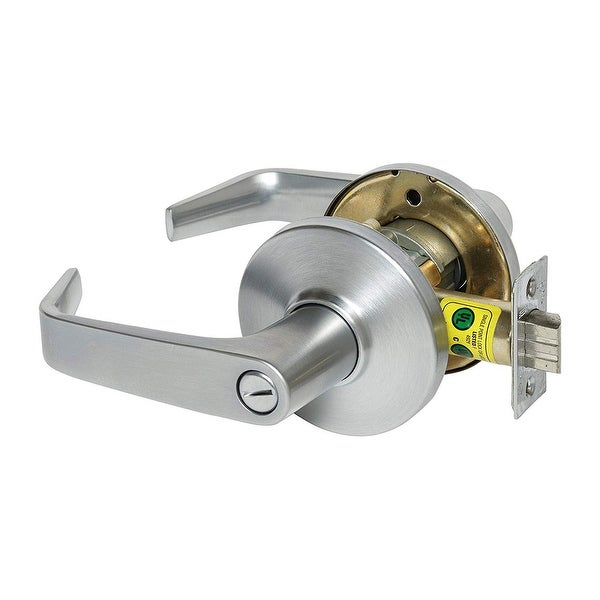 """Best Access 9K30L15CS3 9K Series Privacy Door Lever Set with """"15"""" Lever, """"C"""" Trim, S3 Strike and 2-3/4"""" Backset - Satin Chrome"""