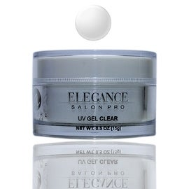 Elegance Salon Pro UV Gel Clear 0.5oz (15g) One Phase Professional Salon Quality Self-Levelling