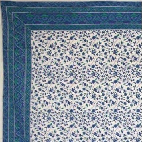 Handmade Fleur De Lis Tablecoth 100% Cotton Rectangle 60x90 Gorgeous Round Square