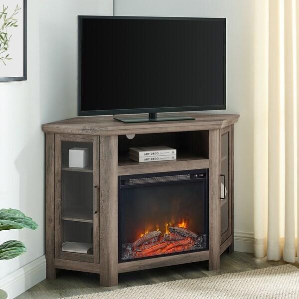 48-inch 2-door Corner Fireplace TV Stand. Opens flyout.