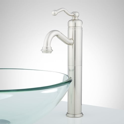 Signature Hardware 910802 Leta Vessel Bathroom Faucet For Overflow Sinks Drain