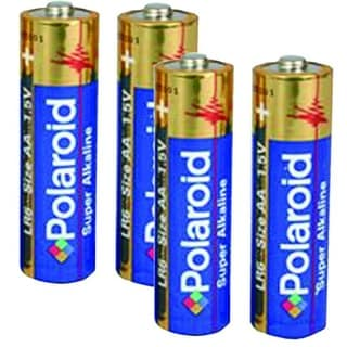 Polaroid 4 Pack AA Alkaline Battery