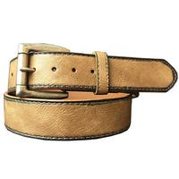 G-BAR-D Western Belt Mens Burnished Roller Bar Brown